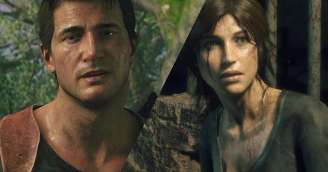 Primi piani per Nathan Drake e Lara Croft in Uncharted 4 e Rise of the Tomb Raider