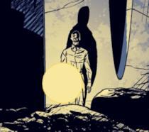 Il protagonista in una vignetta del fumetto