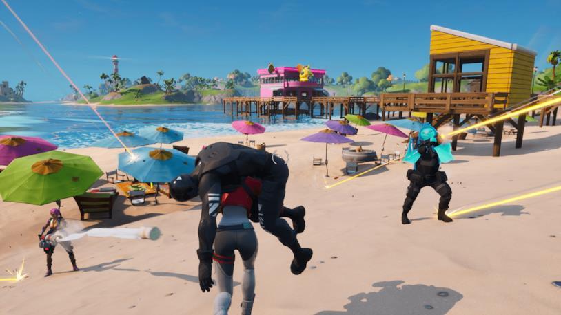 Screen di gioco in Fortnite