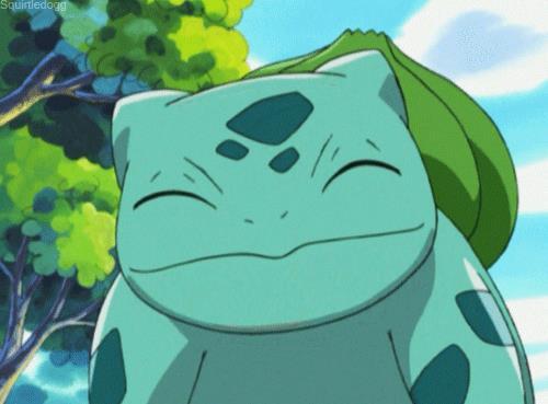Una GIF vede in azione Bulbasaur nell'anime dei Pokémon