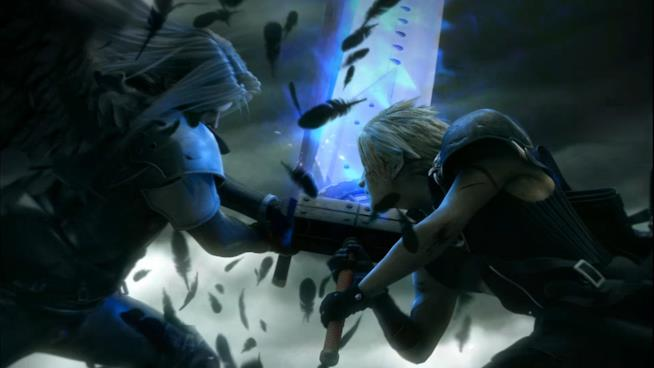 Lo scontro tra Cloud e Sephiroth