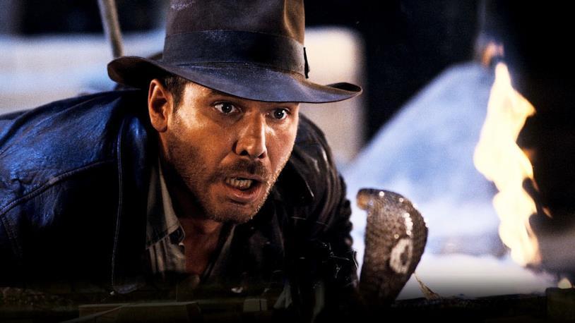 Harrison Ford in una scena de I predatori dell'arca perduta