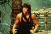 Sylvester Stallone in una scena di Rambo II