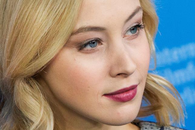 L'attrice durante l presentazione del film Indignation