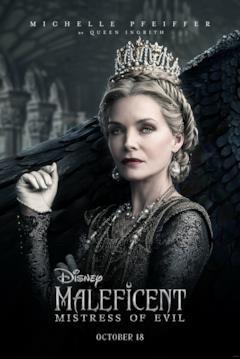 Il character poster di Maleficent con la Regina Ingrith