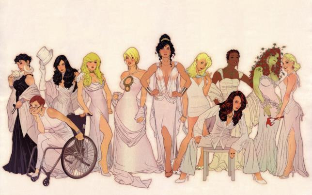 I personaggi femminili di DC Comics disegnati da Adam Hughes