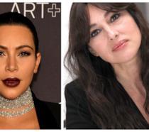Primo piano di Kim Kardashian e Monica Bellucci