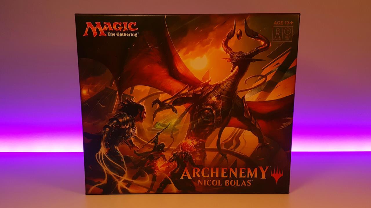 Il fronte della scatola di Archenemy Nicol Bolas