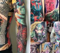 Record del mondo per i tatuaggi Marvel: 31 personaggi che gli coprono l'intero corpo