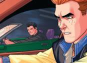 Archie e Reggie in una gara automobilistica