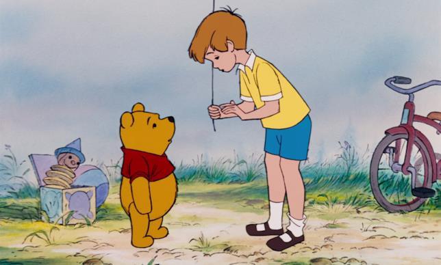 Christopher Robin parla con Winnie
