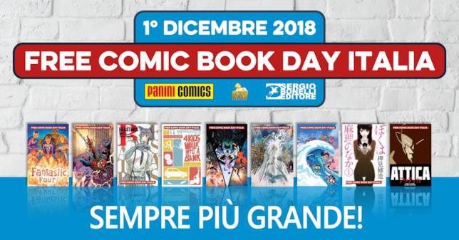 La locandina dell'evento dedicato alla giornata del fumetto gratis