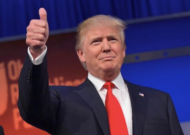 Primo piano di Donald Trump