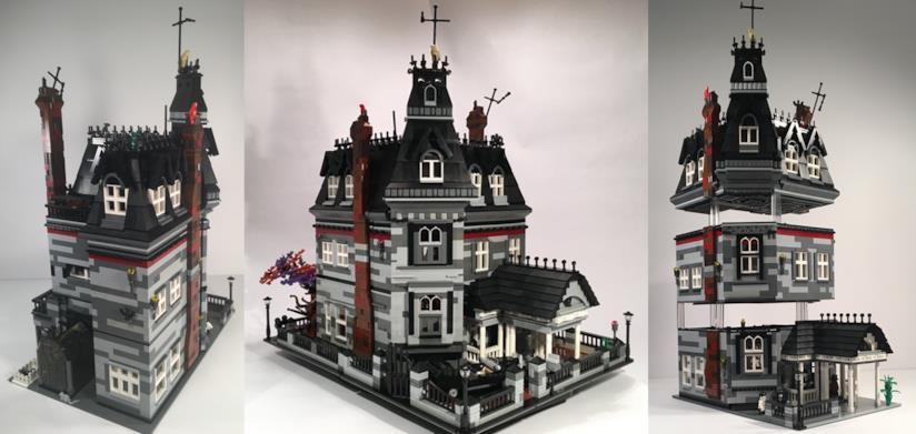 I due modelli della casa della famiglia Addams proposti su sito di LEGO Ideas
