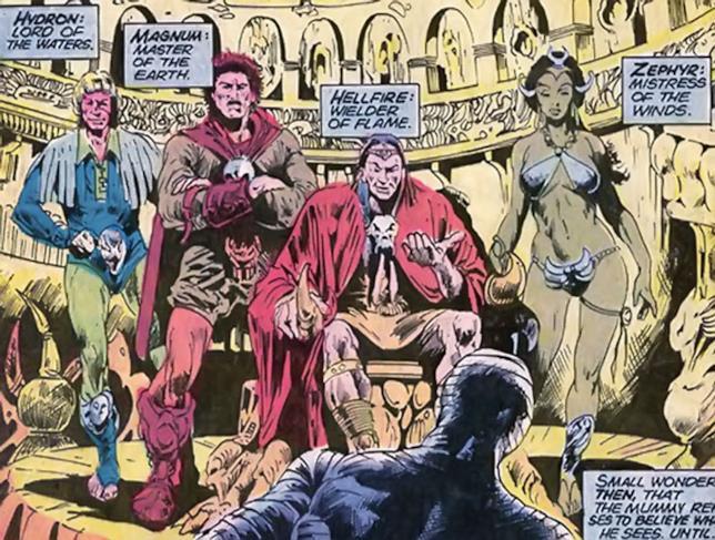 L'esordio de Gli Elementali nei fumetti Marvel