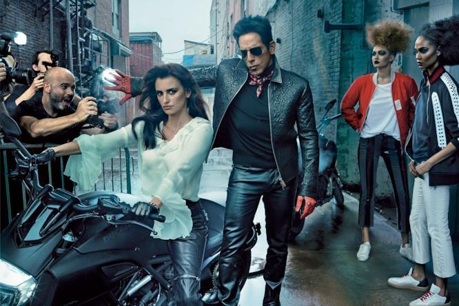 Ben Stiller e Penélope nel servizio di Vogue dedicato a Zoolander 2