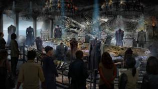 Un concept art dello studio tour di Game of Thrones