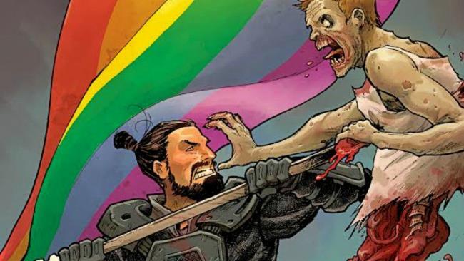La copertina variant di The Walking Dead 59