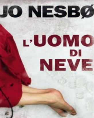 La copertina de L'uomo di neve di Nesbo