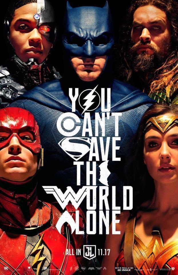 Il nuovo poster di Justice League presentato in occasione del Comic-Con di San Diego