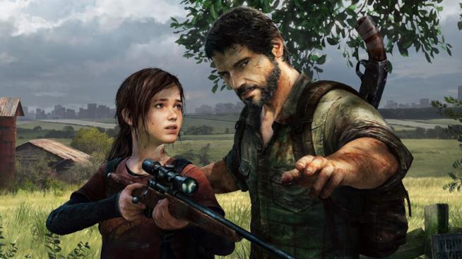 Ellie e Joel in un artwork ufficiale di The Last of Us