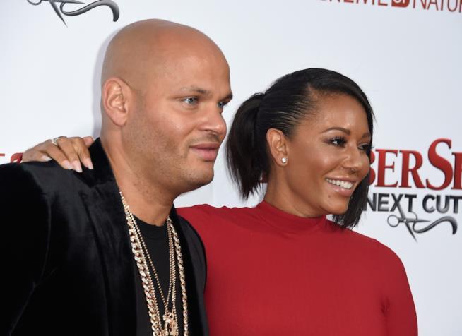 Melanie Brown con l'ex marito Stephen Belafonte
