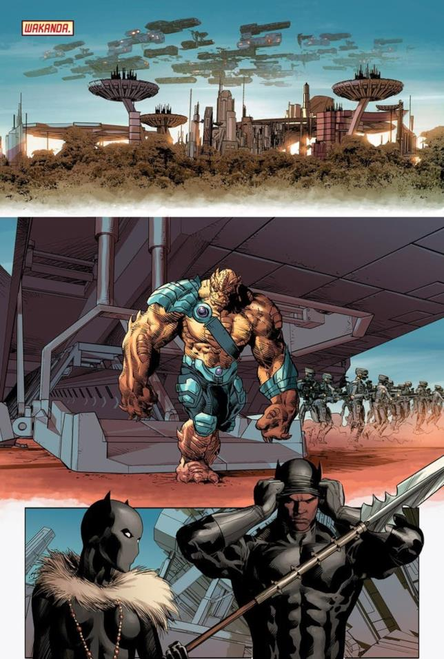L'attacco al Wakanda sulle pagine di New Avengers