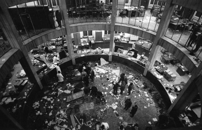 Un'immagine della strage di Piazza Fontana