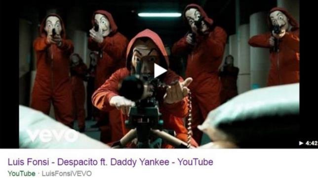 YouTube: il video di Despacito è stato sostituito da una scena della serie TV La Casa di Carta