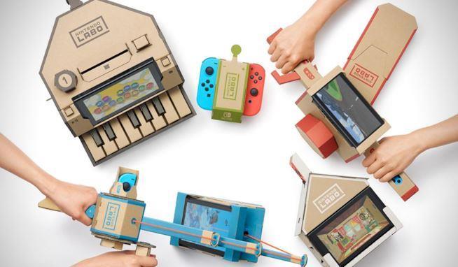Alcune delle possibili creazioni di Nintendo Labo