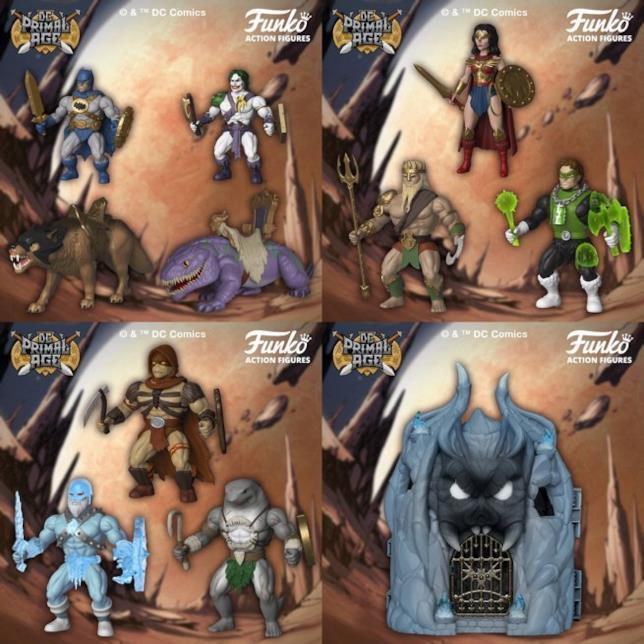 In primo piano le action figure della Dc Comics