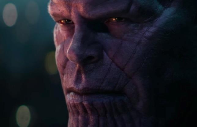 Lo sguardo di Thanos nello spot di Infinity War