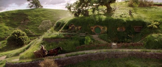 La casetta di Bilbo nei film