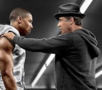 Scena dal primo Creed con Stallone e Michael B. Jordan
