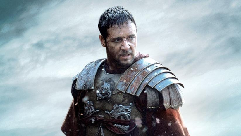 Russell Crowe nel film Il gladiatore