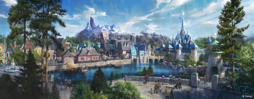 Il regno di Frozen di Disneyland Paris nella prima concept art