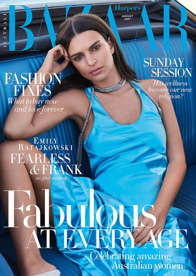 Emily Ratajkowski sulla copertina di Harper's BAZAAR
