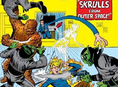Dettaglio della cover di Fantastic Four #2
