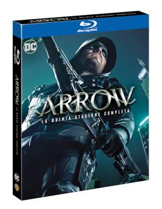 La confezione della quinta stagione di Arrow in Blu-ray