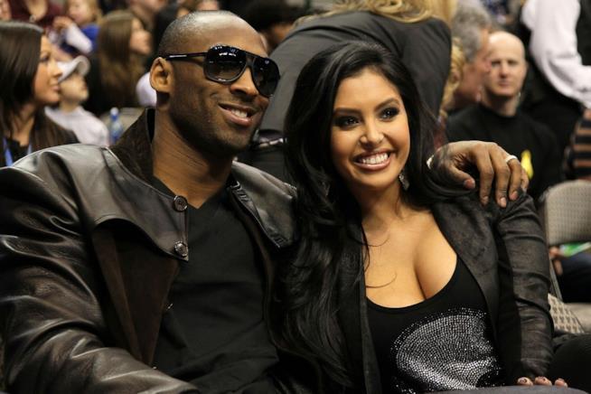 Primo piano di Kobe Bryant e della moglie Vanessa