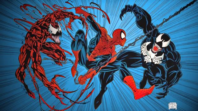 Carnage, Spider-Man e Venom nei comics