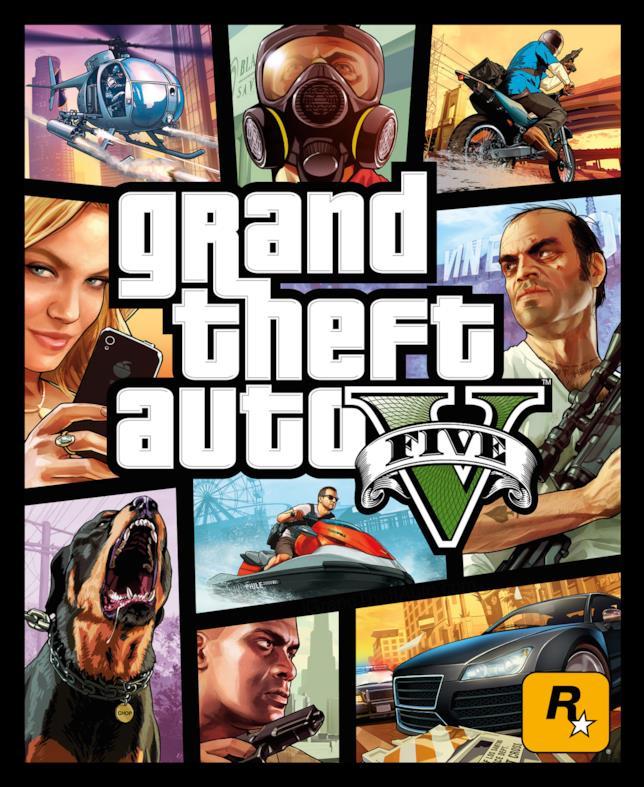 La copertina ufficiale di Grand Theft Auto V