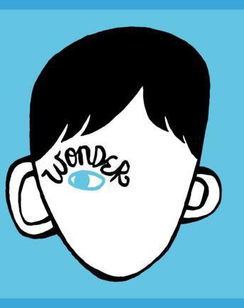 L'originale copertina di Wonder, il libro R. J. Palacio