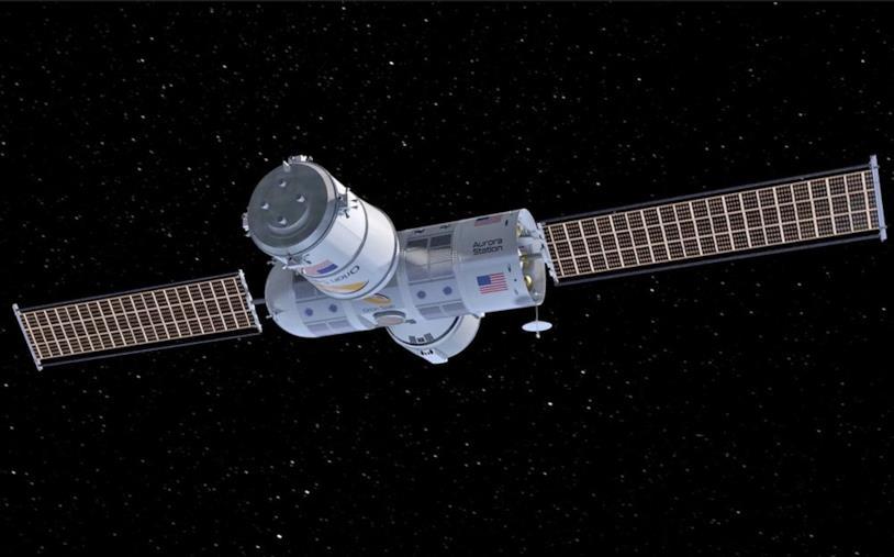 Stazione spaziale Aurora: una rappresentazione del modulo che viaggia nello Spazio