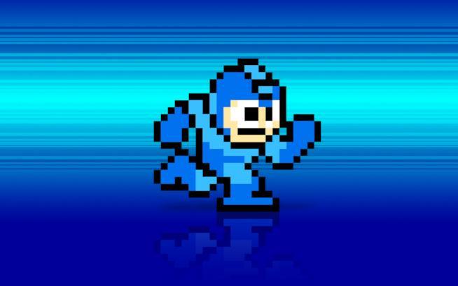 Mega Man corre in un iconico wallpaper