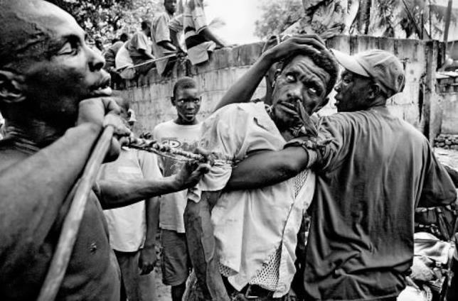 "Uno ""zombie"" haitiano"