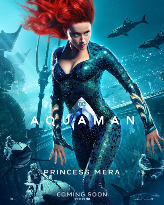 Amber Heard è la Principessa Mera nel film di James Wan