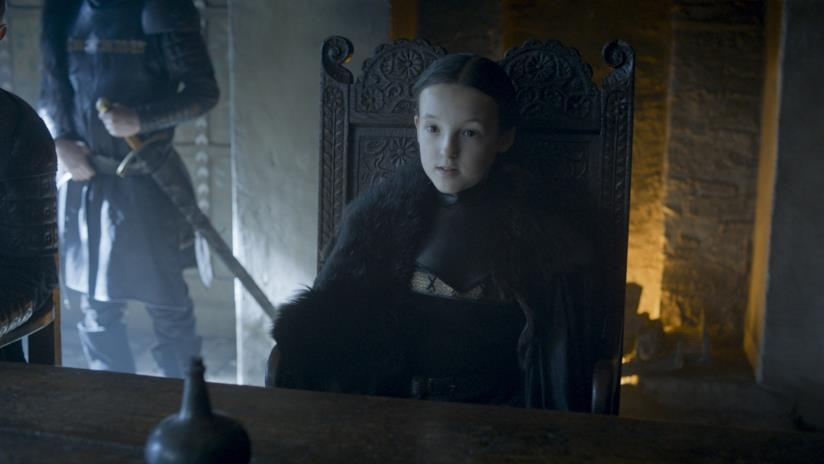 Lyanna Mormont in una scena di Game of Thrones