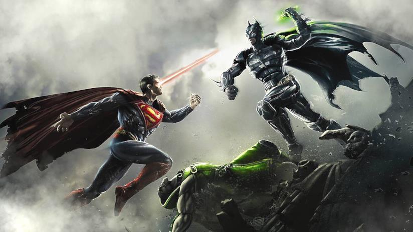Batman combatte contro Superman nella cover del primo Injustice