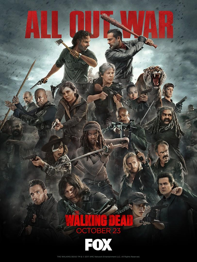 The Walking Dead 8: il poster guerra totale